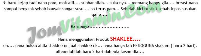 Set Bersalin Shaklee - Set Berpantang Shaklee