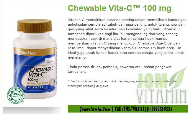 chewable vita-c 100mg shaklee