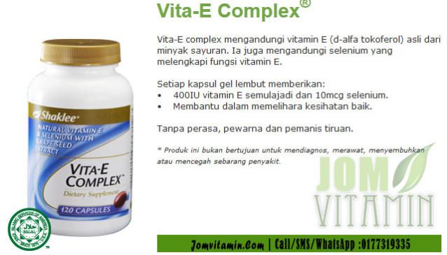 vitamin e shaklee