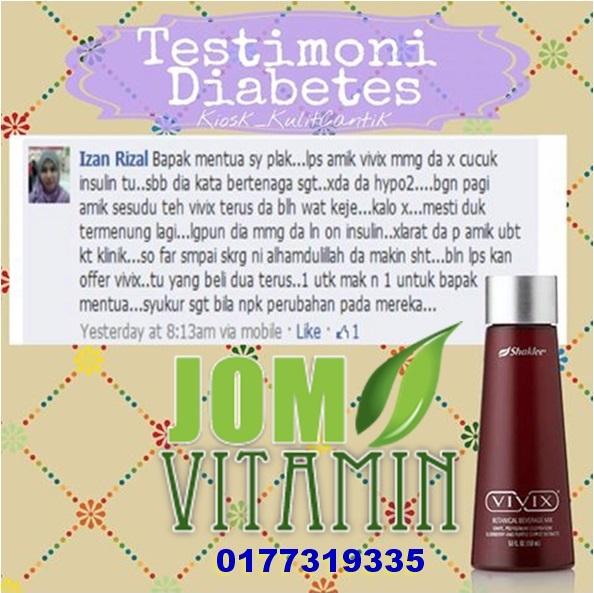 testimoni vivix diabetes kencing manis