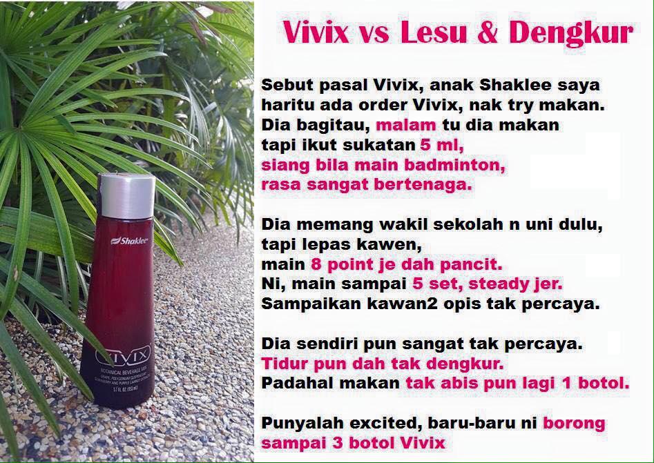 testimoni vivix shaklee badan lesu dan dengkur