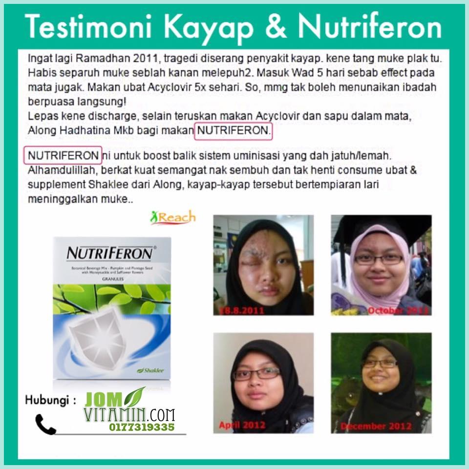 testimoni nutriferon shaklee kayap 0177319335