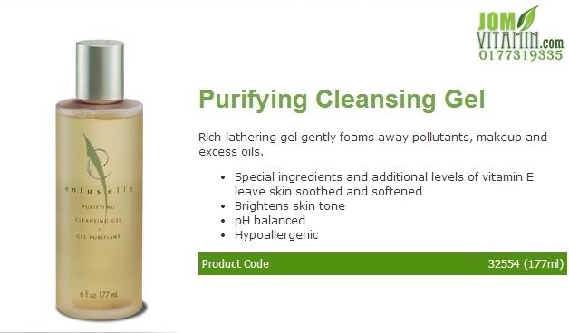 enfuselle shaklee skincare purifying cleansing jerawat jeragat kulit glowing kulit putih jomvitamin 0177319335