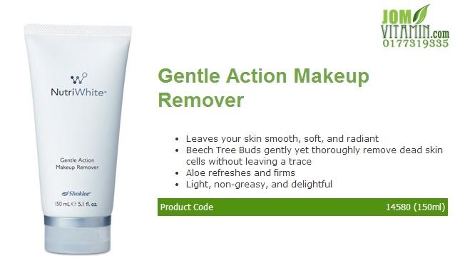 nutriwhite shaklee skincare gentle action makeup remover jerawat jeragat buang daki buang makeup shaklee jomvitamin 0177319335