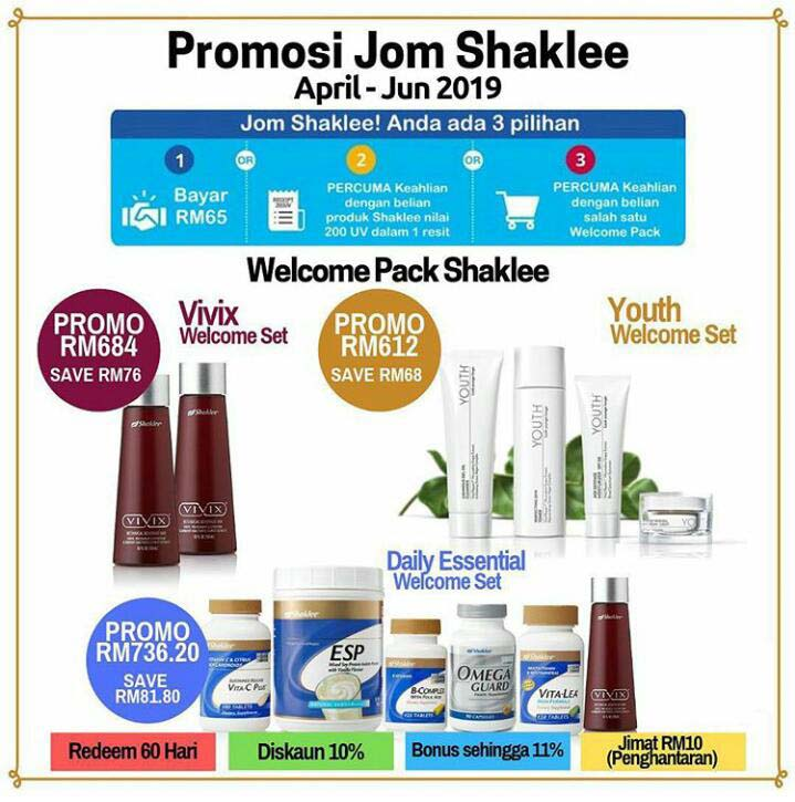 promosi shaklee april 2019 promo promosi jom shaklee