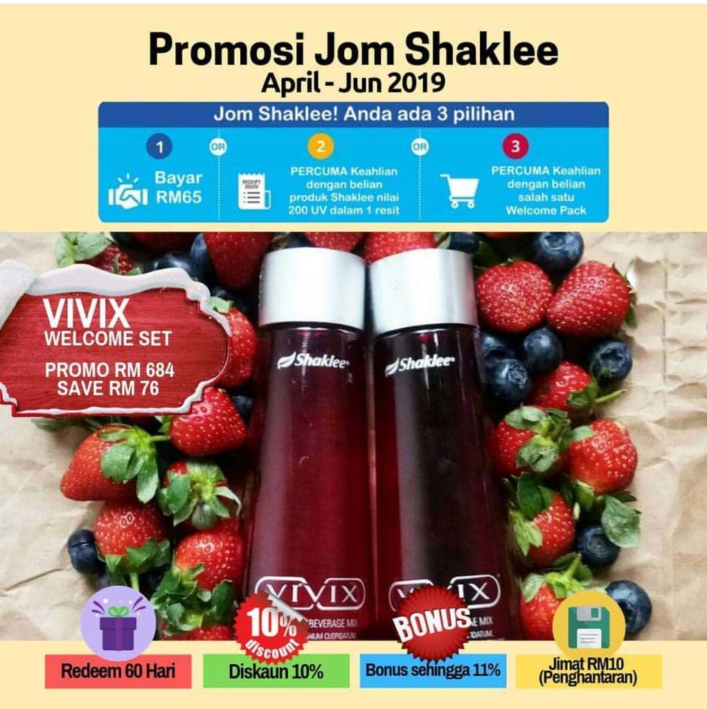 vivix shaklee promosi welcome pack