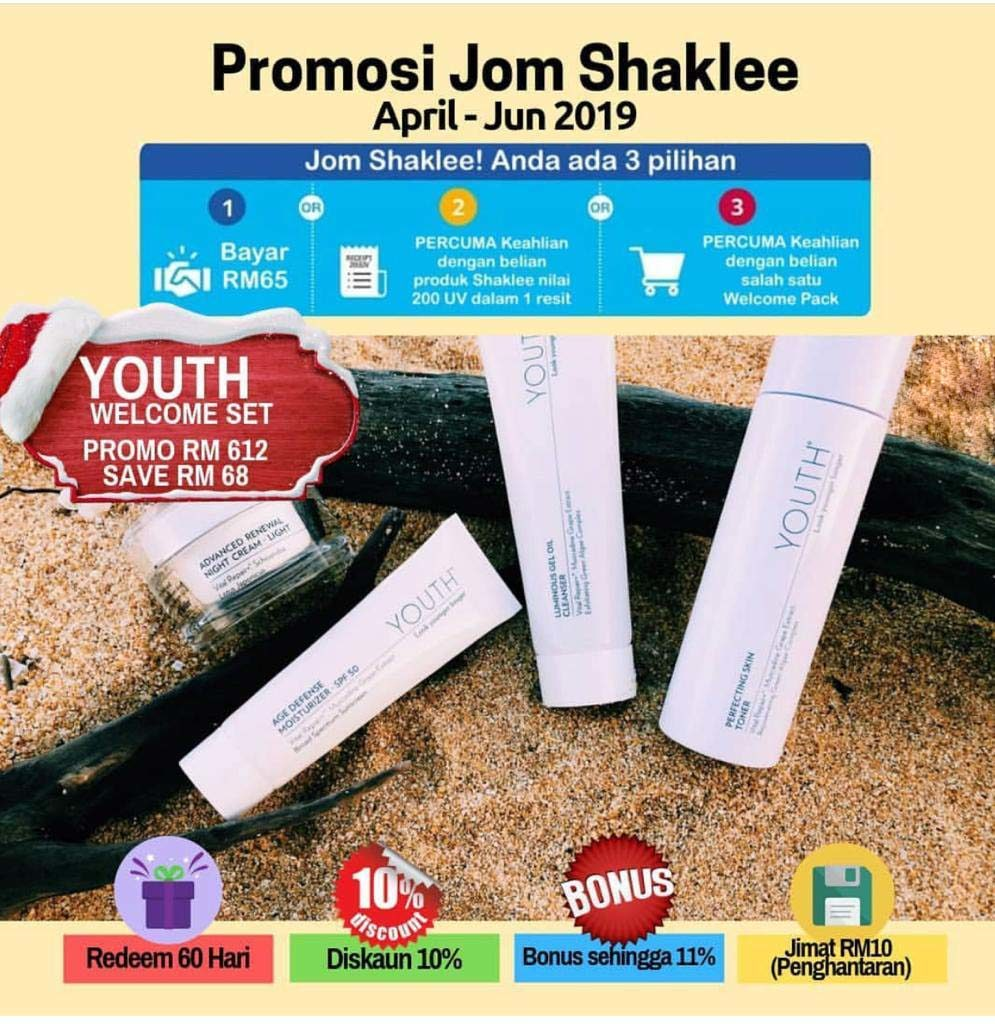 youth shaklee promosi welcome set