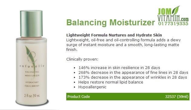 enfuselle shaklee skincare balancing moisturizer pelembab shaklee jerawat jeragat kulit glowing kulit putih jomvitamin 0177319335