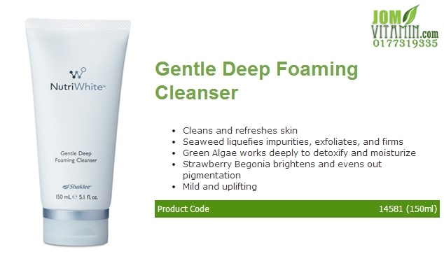 nutriwhite shaklee skincare gentle deep foaming cleanser jerawat jeragat pencuci muka shaklee jomvitamin 0177319335