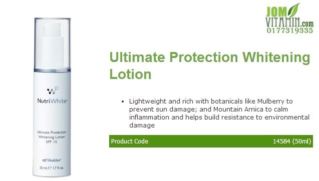 nutriwhite shaklee skincare ultimate protection whitening lotion jerawat jeragat kulit glowing kulit putih pencerah shaklee jomvitamin 0177319335